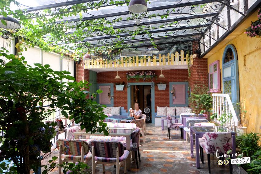 【大稻埕咖啡廳】D.G. Café陽光花園咖啡廳,讓你一秒到南法!台北早午餐下午茶推薦(菜單menu)