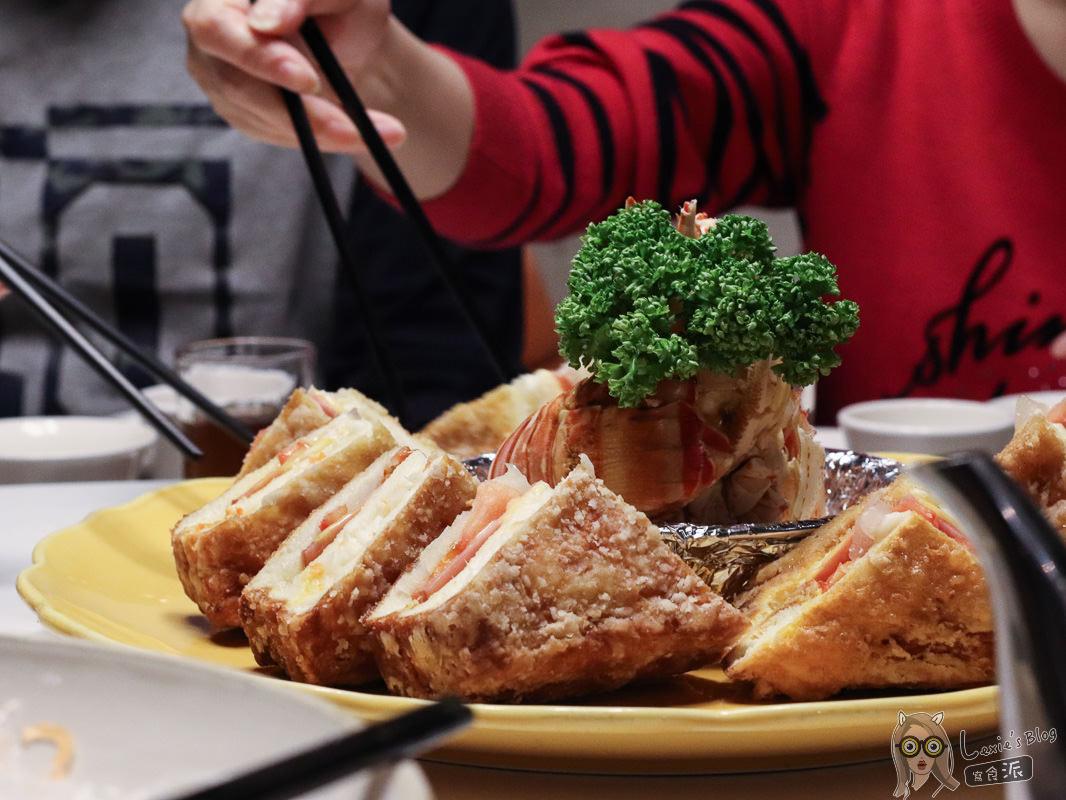 台北海鮮餐廳》田園海鮮餐廳,聚餐桌菜推薦-龍蝦三明治/蜜棗排骨,獲2019米其林餐盤