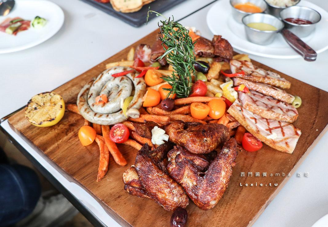 西門聚餐餐廳吃吧|amba台北西門町意舍酒店,超棒採光的各式美味異國料理