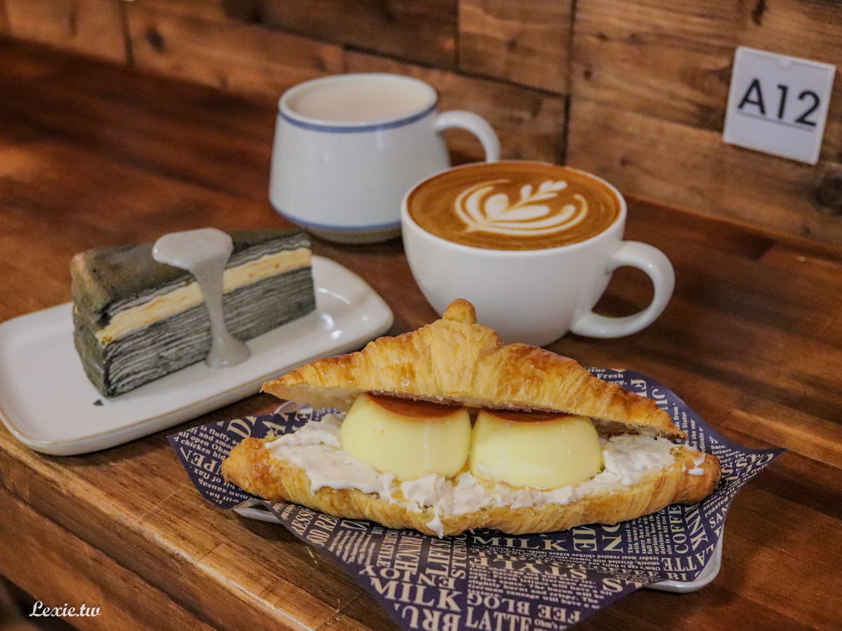 漫拾|中山不限時咖啡廳手做甜點,晚上也吃的到甜點,芋泥布丁可頌、千層,有wifi/插座