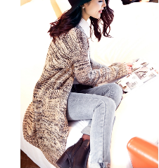 【淘寶購物】韓版寬鬆長針織外套,成功率80%!