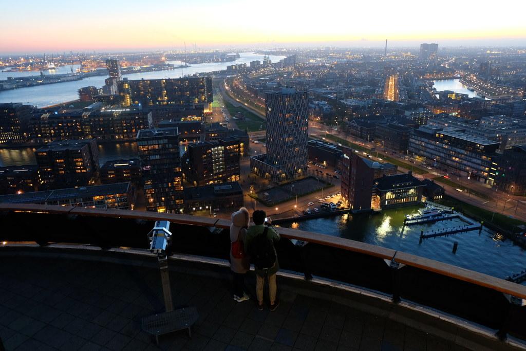 【荷蘭自助9天】Euromast歐洲之桅,鹿特丹必訪景點夜景超美