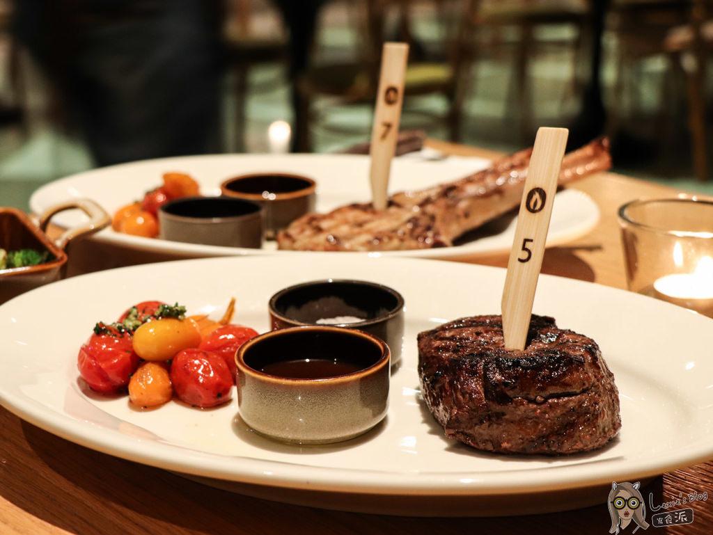 【松山西餐排餐推薦】QUE原木燒烤迷人的炭火烤肉,amba松山意舍景觀餐廳/松山車站美食