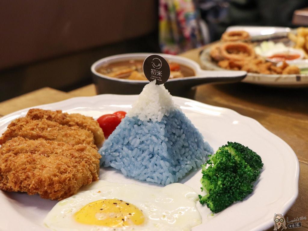 【中山國中美食】初米咖啡,可愛富士山豬排飯龍貓造型蛋糕/咖啡廳簡餐廳推薦/菜單價位